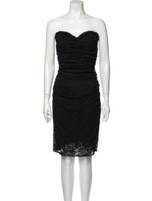 Dolce & Gabbana Strapless Mini Dress Black
