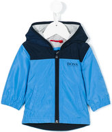 Boss Kids bi-color hooded nylon jacket