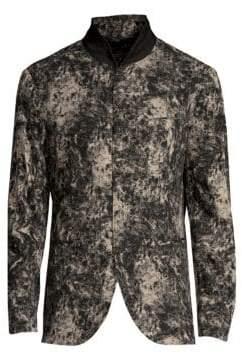 John Varvatos Men's Slim-Fit Shawl Collar Jacket - Black Multi - Size 56 (46)