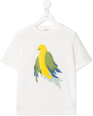 Fith parrot printed T-shirt