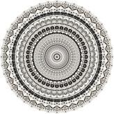 Thumbnail for your product : PODEVACHE - Mandala Round Vinyl Floor Mat - White/Black