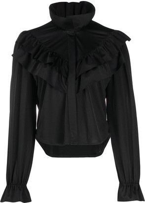 Vetements Ruffled High-Neck Blouse