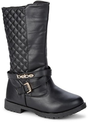 Bebe Girl's Quilted Riding Boots