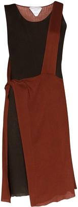 Bottega Veneta Two-Tone Draped Knit Dress
