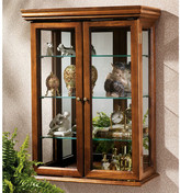 Charlton Home Country Tuscan Wall-Mounted Curio Cabinet