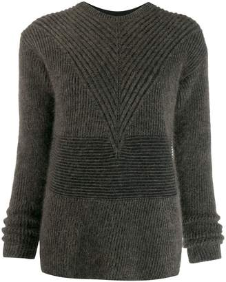 Rick Owens striped long sleeve jumper