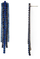 Aqua Iris Fringe Stud Earrings