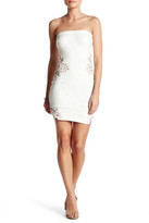 Dress the Population Caitlyn Strapless Embroidered Knit Dress