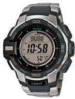 Casio Men's PRO TREK Stainless Steel Digital Watch - PRG270D-7CR