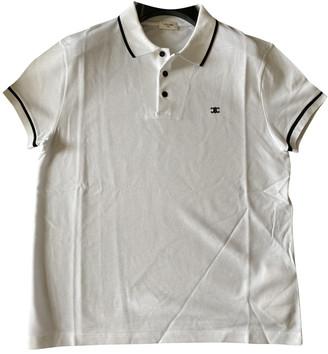 Celine White Cotton Polo shirts