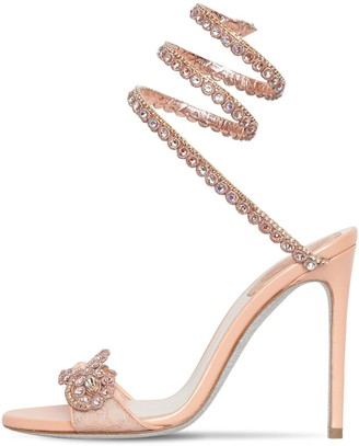 Rene Caovilla 105mm Snake Embellished Lace Sandals