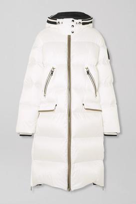 Bogner Honey-d Hooded Quilted Down Ski Jacket - White