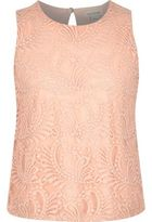 River Island Girls light pink lace shell top