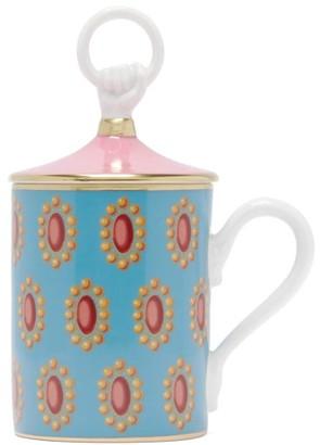 Gucci Broche Porcelain Mug - Blue Multi