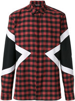 Neil Barrett checked arrow shirt