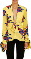 Proenza Schouler Women's Lily-Print Silk Blouse-YELLOW