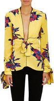 Proenza Schouler Women's Lily-Print Silk Blouse