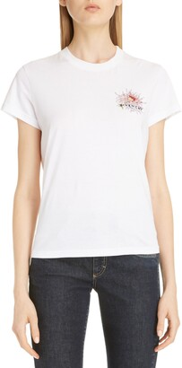 Givenchy Beaded Floral Logo Tee