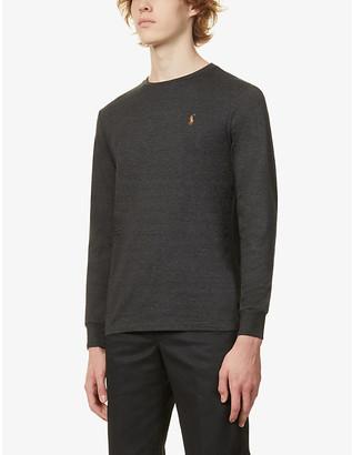 Polo Ralph Lauren Pima long-sleeve cotton-jersey top