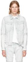 Raw Research Blue Denim Motac 3d Slim Jacket