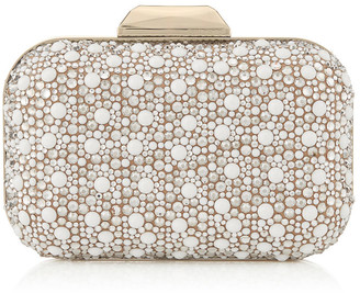 Jimmy Choo CLOUD White Suede with Crystal Mix Clutch Bag