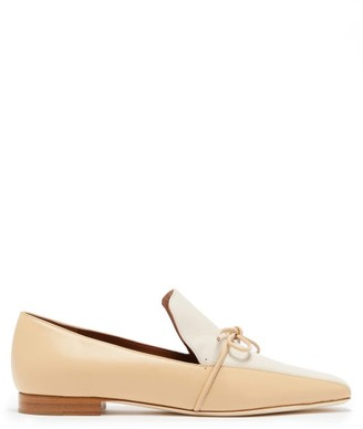 Malone Souliers X Roksanda Celia Knotted Leather Loafers - Womens - Beige White