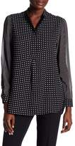 Anne Klein Dotted Sheer Tunic Blouse