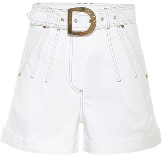 Balmain High-rise stretch-cotton shorts