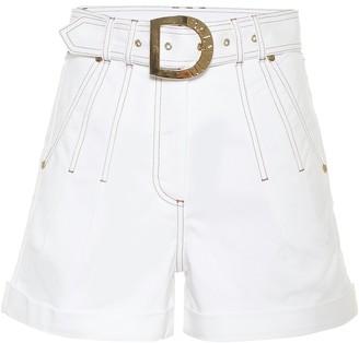 Balmain High-rise stretch-cotton shorts