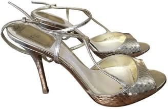 Christian Dior Gold Cloth Sandals