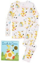 Toddler Girl's Books To Bed Duck & Goose Fitted Two-Piece Pajamas & Book Set