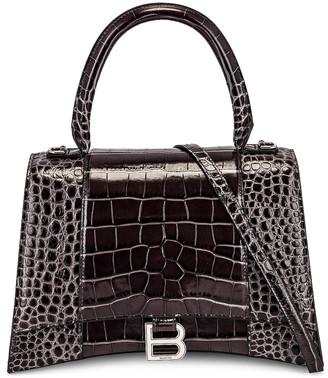 Balenciaga Medium Hourglass Top Handle Bag in Dark Grey | FWRD