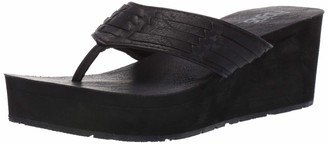 Flojos Women's JESS Flip-Flop Black 7 Medium US