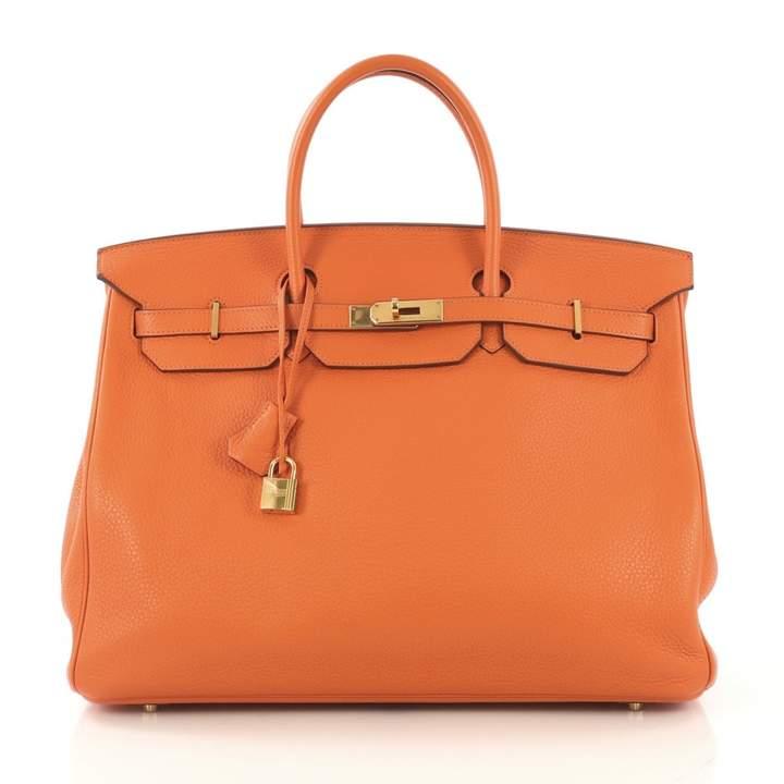 9118170a64 Hermes Orange Leather Handbags - ShopStyle