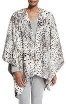 Natori Reversible Blanket Shawl, Snow Leopard