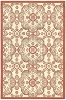 Ecarpetgallery Ankara Rug - 3ft x 5ft - Cream/Dark Burgundy