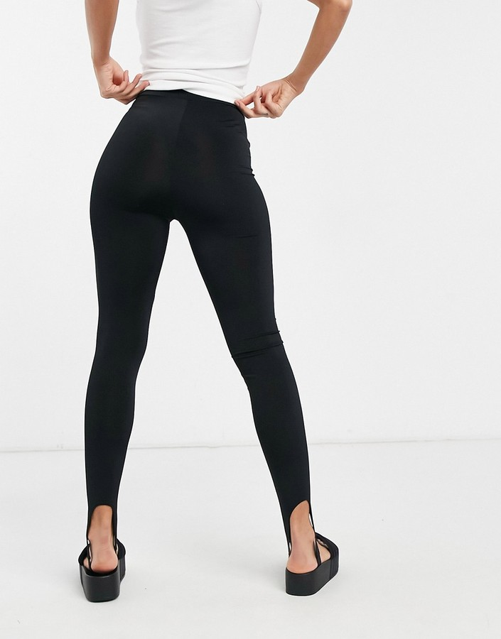 Thumbnail for your product : Collusion stirrup leggings in black