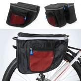 Yosoo Waterproof Bicycle Seat Bag, Multifunctional Cycling Double Sides Pannier Bag Rack Back Rear Bicycle Tail Bag Tube Frame Bike Bag Carrier Trunk