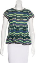 M Missoni Metallic-Accented Knit Top
