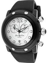 Glam Rock Women's GK1130 - Black Silicone/White Chronograph Watches