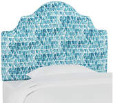 Marmalade Harper Scalloped Headboard - Washed Triangles Blue twin