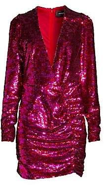The Kooples Women's V-Neck Sequin Mini Dress