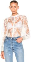 I.D. Sarrieri Lace Shirt Bodysuit
