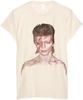 MadeWorn - David Bowie Ziggy Distressed Printed Cotton-jersey T-shirt - Ecru