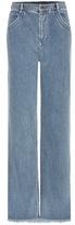 Chloé Frayed Wide-leg Jeans