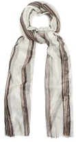 Brunello Cucinelli Striped cashmere scarf