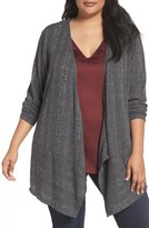 Sejour Plus Size Women's Ribbed Knit Cardigan