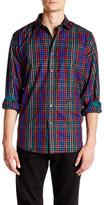 Bugatchi Check Print Long Sleeve Classic Fit Shirt