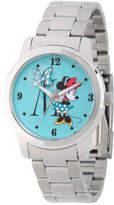Disney Princess Disney Minnie Mouse Womens Silver Tone Stainless Steel Bracelet Watch-Wds000258