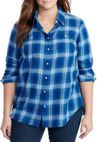 Lauren Ralph Lauren Plus Plaid Cotton Twill Shirt